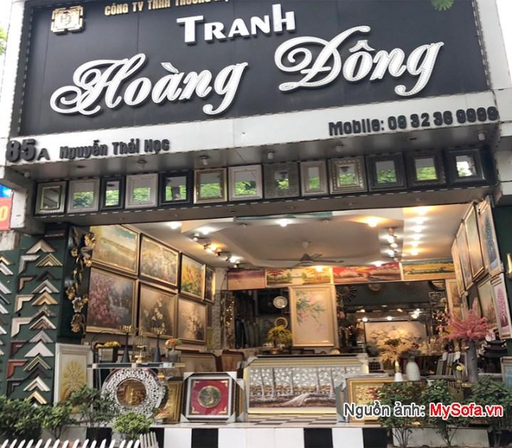 cửa hàng tranh Hoàng Đông 85A Nguyễn Thái Học