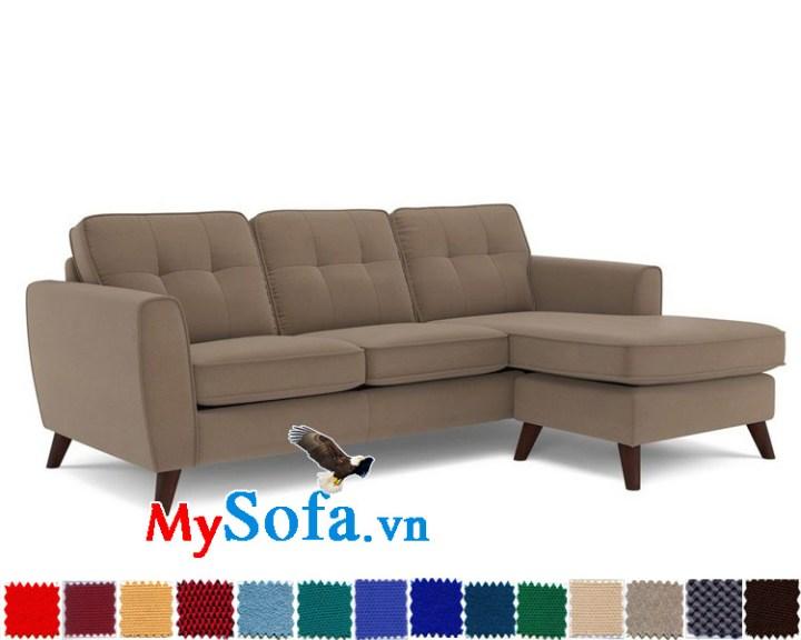 Mẫu ghế sofa góc màu xám sạch và sang MyS-1910889