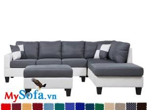 Ghế sofa dạng góc chữ L bọc nỉ cao cấp