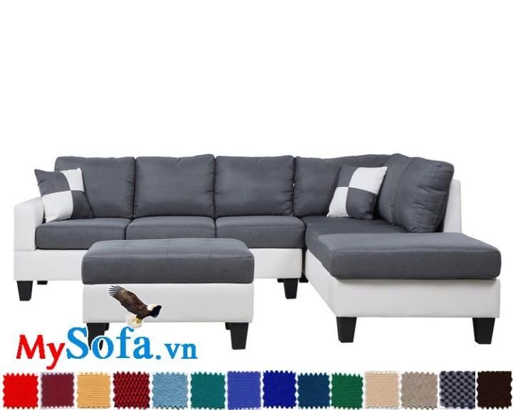 Ghế sofa dạng góc chữ L bọc nỉ cao cấp MyS-1910779