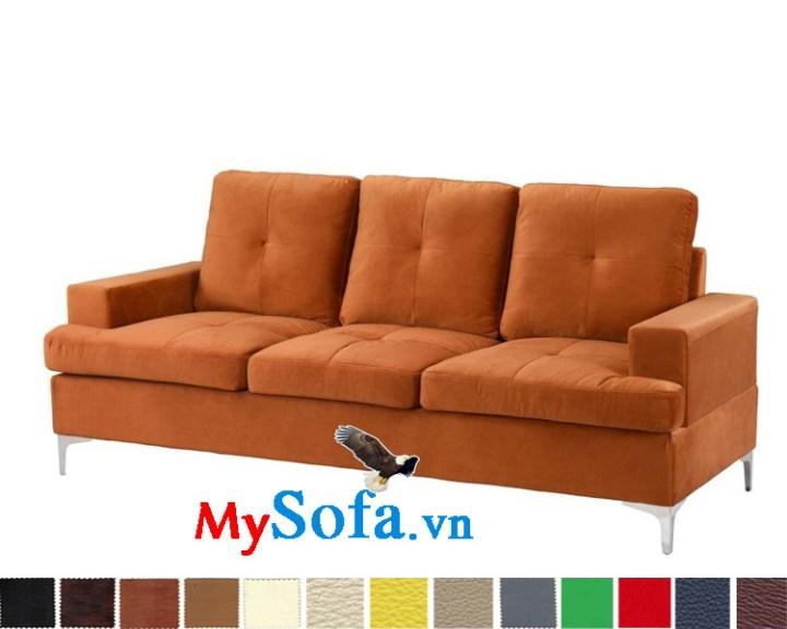 Ghế sofa văng nỉ màu nâu sáng đẹp MyS-1910704