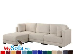 Ghế sofa dạng góc bọc nỉ cao cấp