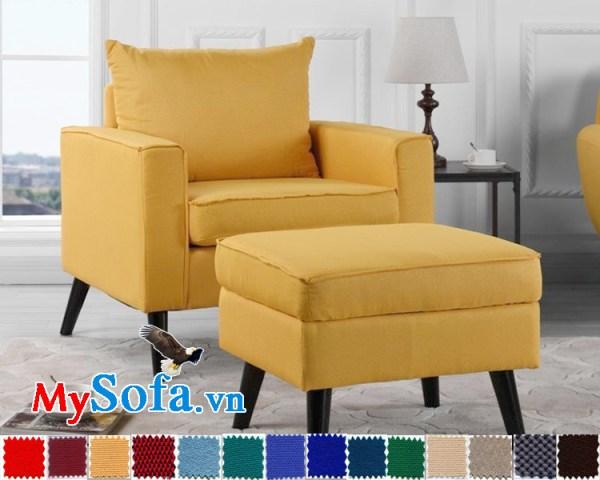 sofa đơn chất nỉ với chân ghế cao MyS-1910811