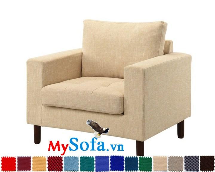 sofa đơn chất nỉ đẹp tinh tế MyS-1910806