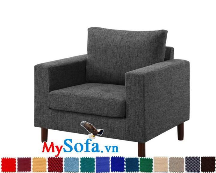 Sofa đơn chất nỉ đẹp và sang MyS-1910808