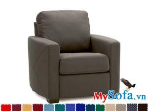 sofa đơn nhỏ xinh chất liệu nỉ MyS-1910848