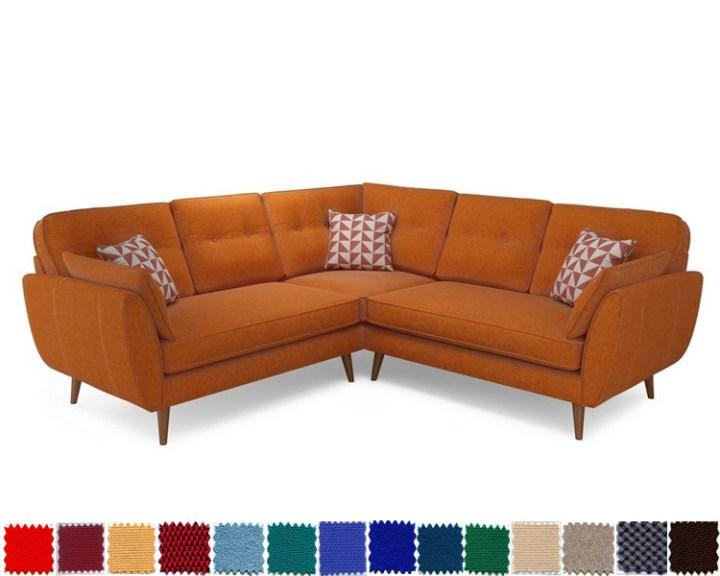 Sofa góc màu cam ấm áp, thu hút và tràn đầy năng lượng