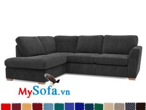 sofa nỉ màu đen huyền bí MyS-1910880