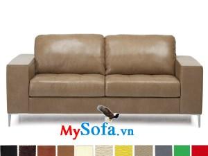 Sofa văng chất liệu da cho phòng giám đốc cực sang MyS-1910821