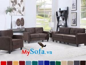 bộ sô pha màu xám cho phòng khách hiện đại