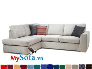 Ghế sofa nỉ đẹp dạng góc MyS-1911901