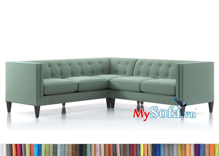 Sofa góc chữ V kích thước dài khoảng 2m mỗi cạnh
