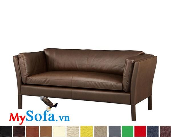 sofa da dạng văng màu nâu cafe cực đẹp MyS-1911565
