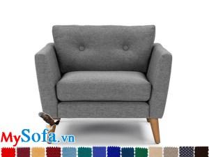 sofa đơn MyS-1911581 chân gỗ cao thanh mảnh