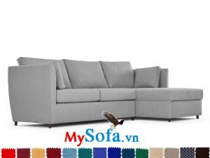 sofa góc chất nỉ màu ghi cực đẹp MyS-1910655
