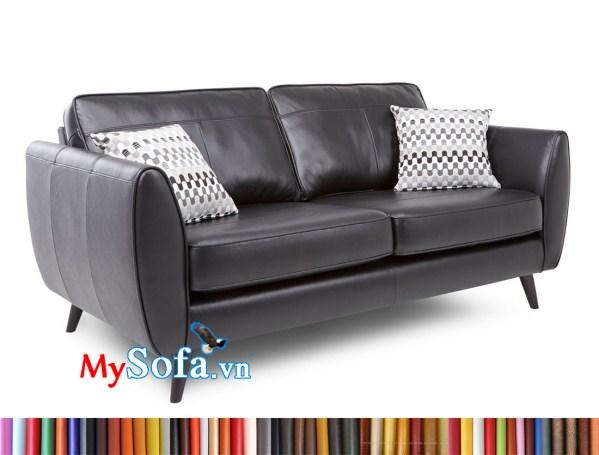 mẫu sofa văng da màu ghi xám MyS-1911639