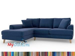 Bộ sofa phòng khách màu xanh tím than MyS-1911692