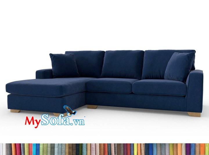 Sofa nỉ đẹp màu xanh đen