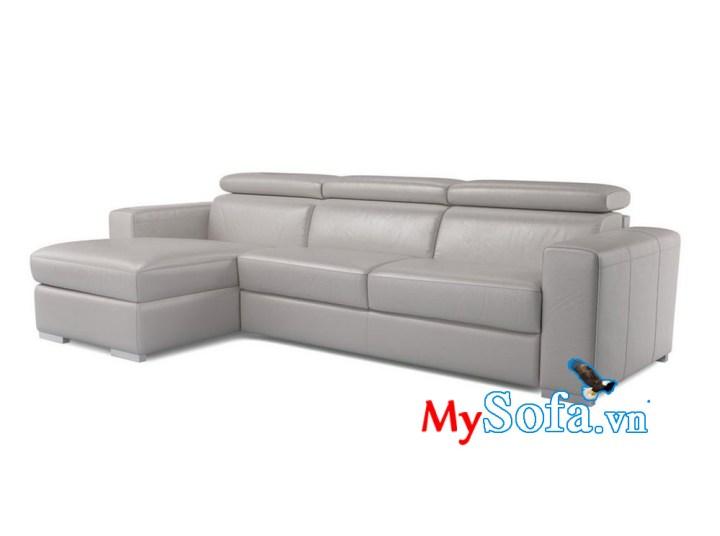 Ghế sofa da màu ghi