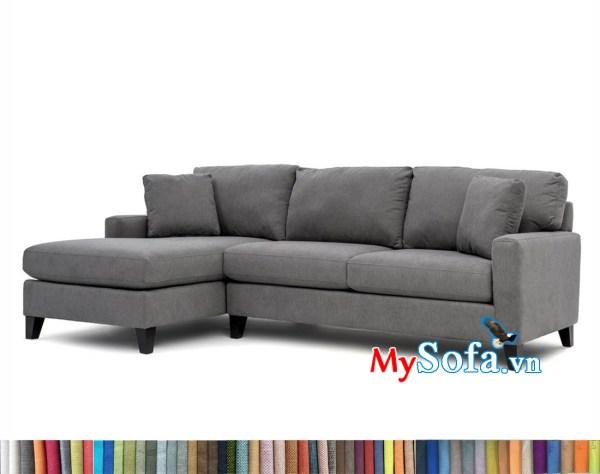 MyS-2001706 Mẫu sofa nỉ góc đẹp