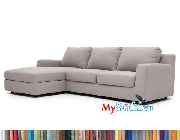 MyS-2001776 Ghế sofa góc chất nỉ đẹp