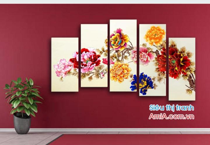 Mẫu đẹp bán chạy hoa mẫu đơn 9 bông