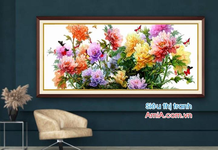 Bức tranh đẹp về hoa mẫu đơn