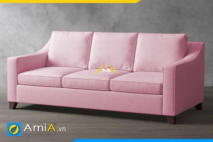 sofa phong khach nhỏ mau hong amia sfn20129