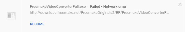 freemake download network error