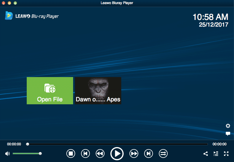 simply ui for bluray dvd playback