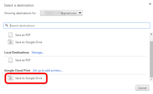 save webpage to google drive in pdf