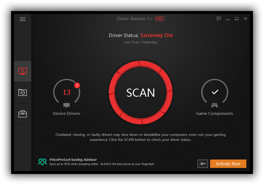 iobit driver booster scan