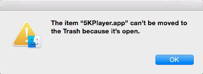 remove 5kplayer error notification