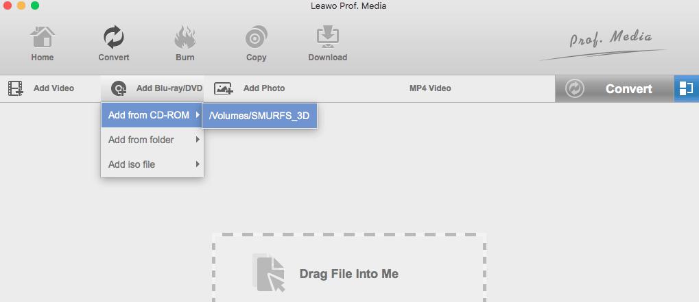 leawo load bluray dvd mac