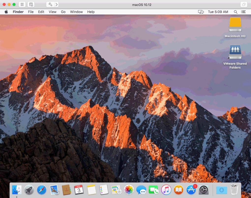 mac os sierra vmware image download