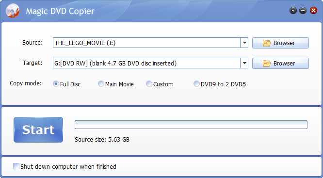 Full Disc Copy Mode