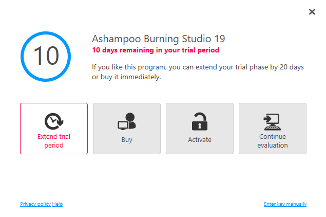 ashampoo burning studio free trial