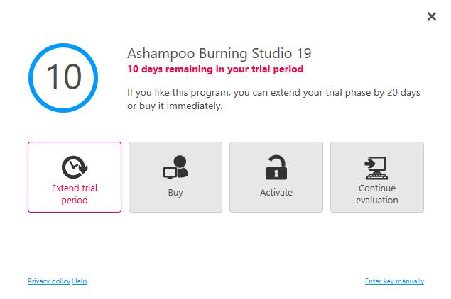 ashampoo burning studio 16.0 7 license key