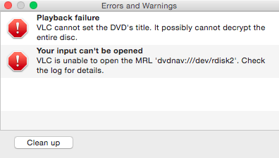 VLC Error Playing Japanese DVD