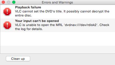 VLC Error Playing Japanese DVD