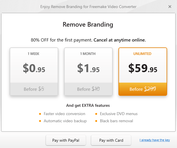 Freemake Video Converter Ask for Pay