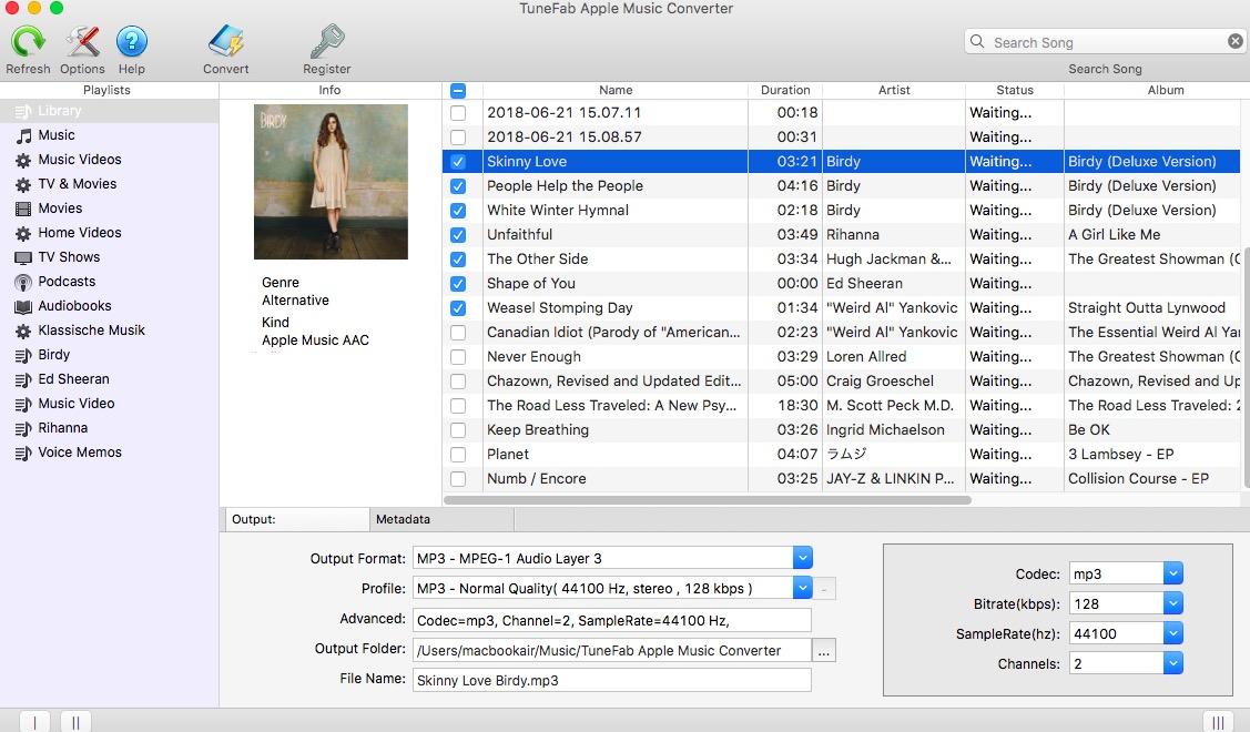 Choose Apple Music Track