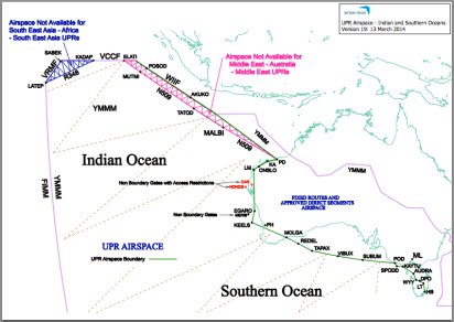 Sources : Air Services Australia – http://www.airservicesaustralia.com/wp-content/uploads/UPR-Airspace-Indian-and-Southern-Oceans.pdf