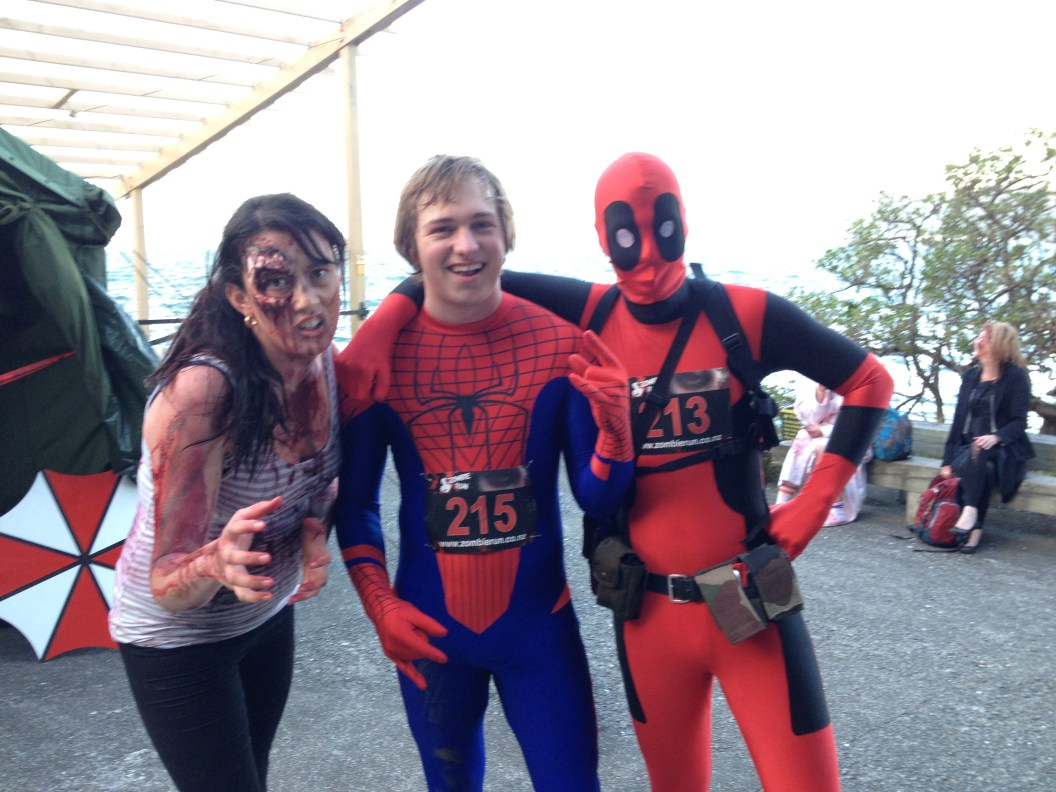 Zombie, Spiderman, and ... MaskRider?