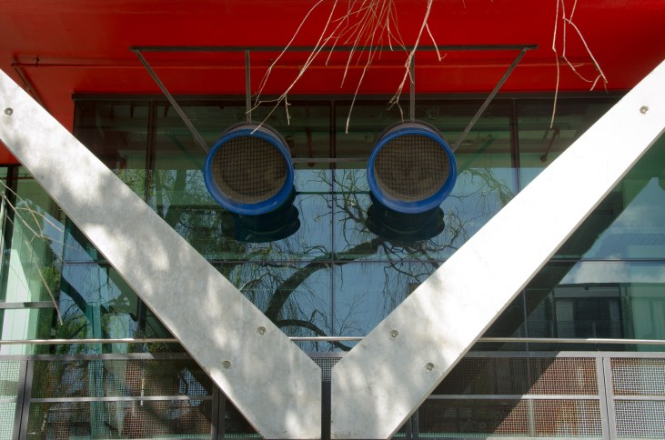 Interesting shapes at the School of Architecture (Victoria Uni)