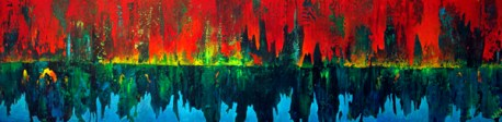 """Misreflection"" 15""x 60"" #1245 acrylic on canvas"