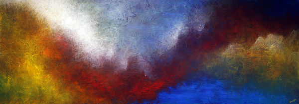"""The Shelter of Your Heart"" 28"" x 84"" #1288 acrylic on canvas"