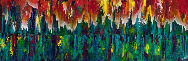 "To Dance Within, 12"" x 36"" $700"