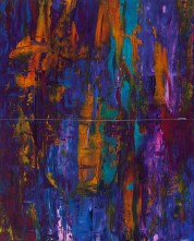 """Aqua Lung Forest, 27"""" x 21.5"""" diptych #1346p"""