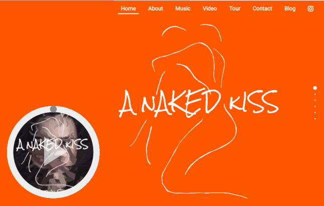 Webdesign - Homepage Example: A Naked Kiss